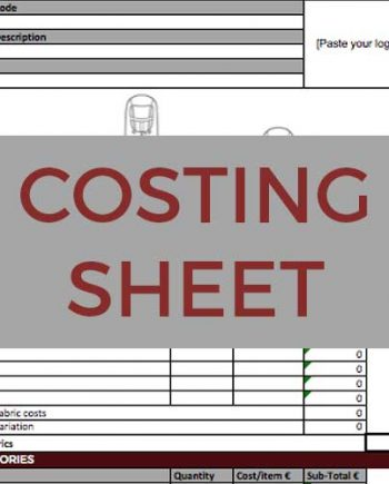 Sportswear Inc. Costing Sheet Template