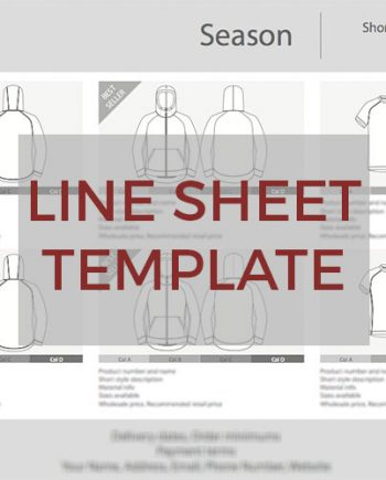 Sportswear Inc. Line Sheet Template