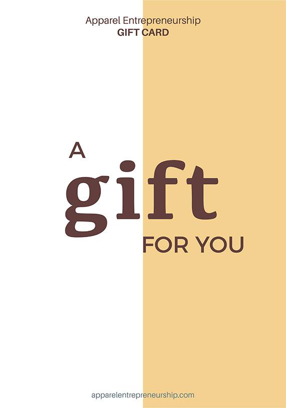 Apparel Entrepreneurship Gift Card