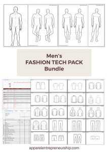 Men's Fashion Tech Pack Templates