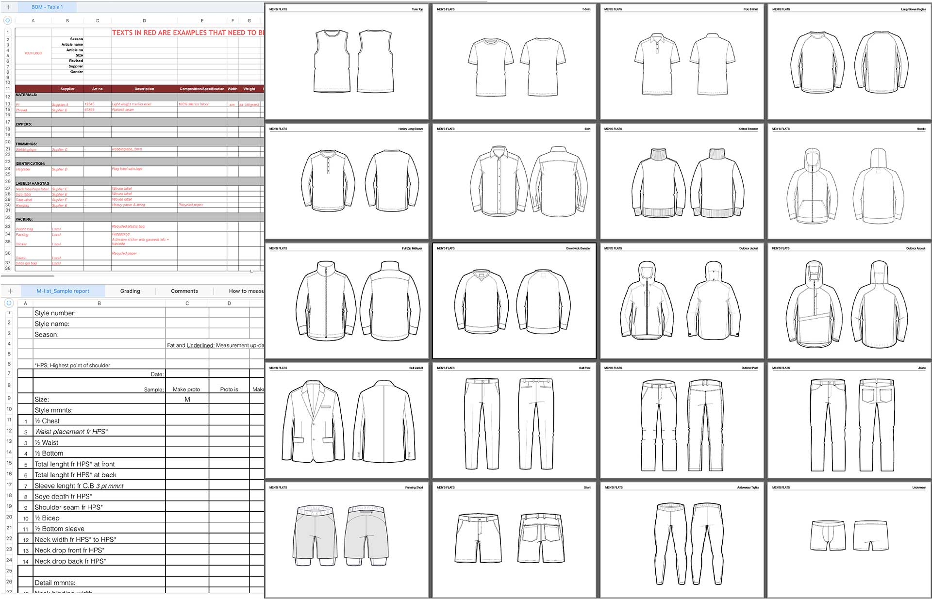 Fashion Tech Pack Templates Apparel Entrepreneurship Tech pack template free download