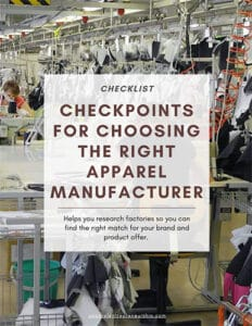 Apparel Factory Checklist